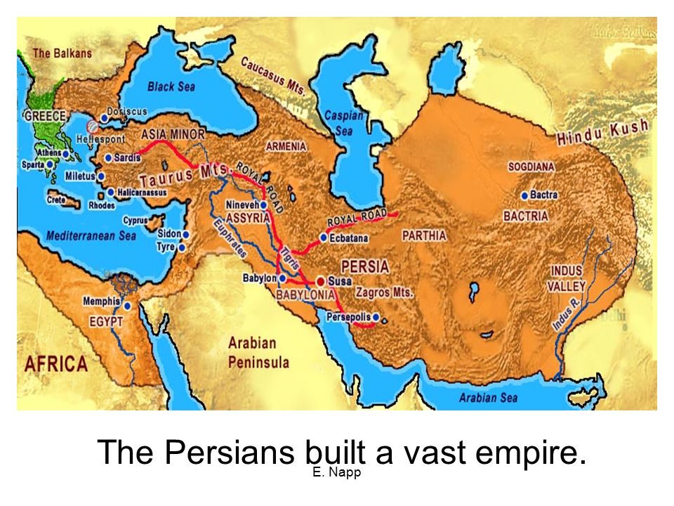 The Persians built a vast empire.