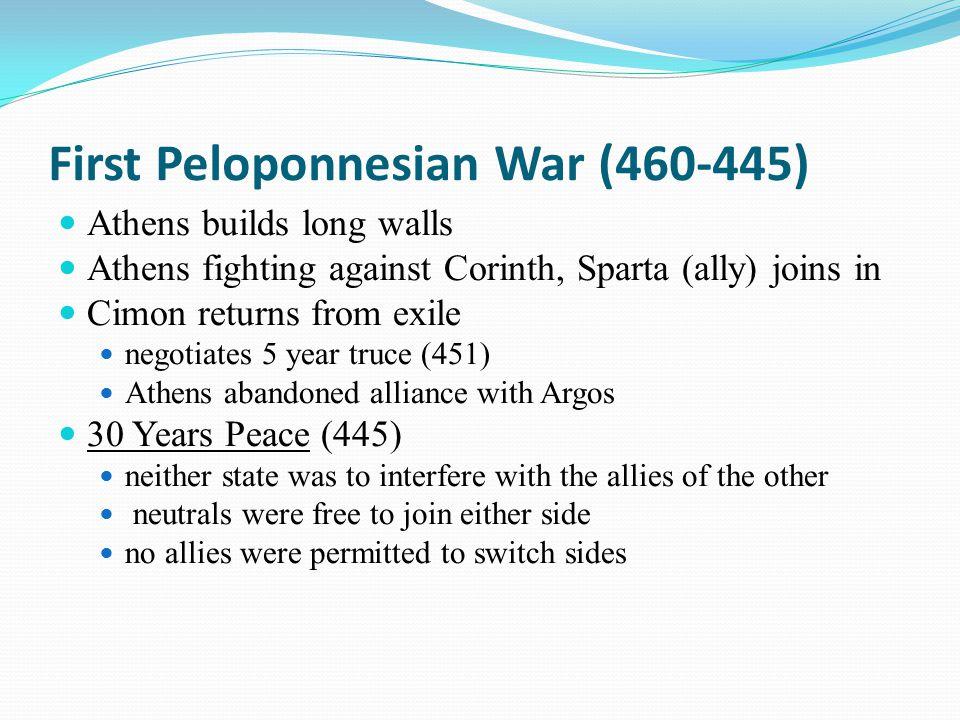 First Peloponnesian War (460-445)