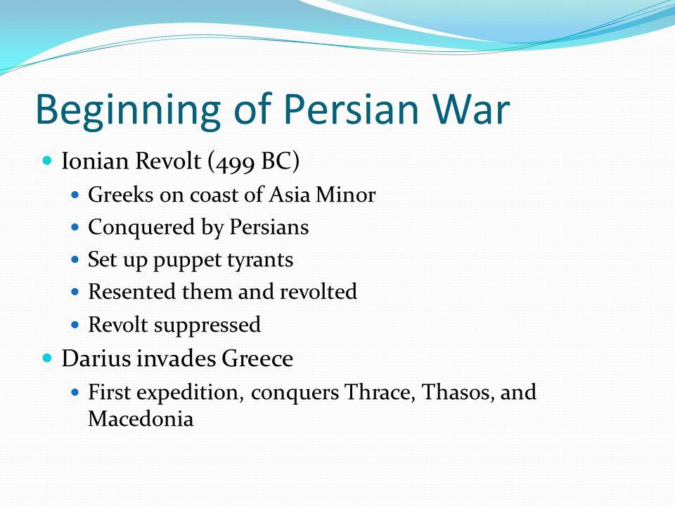 Beginning of Persian War