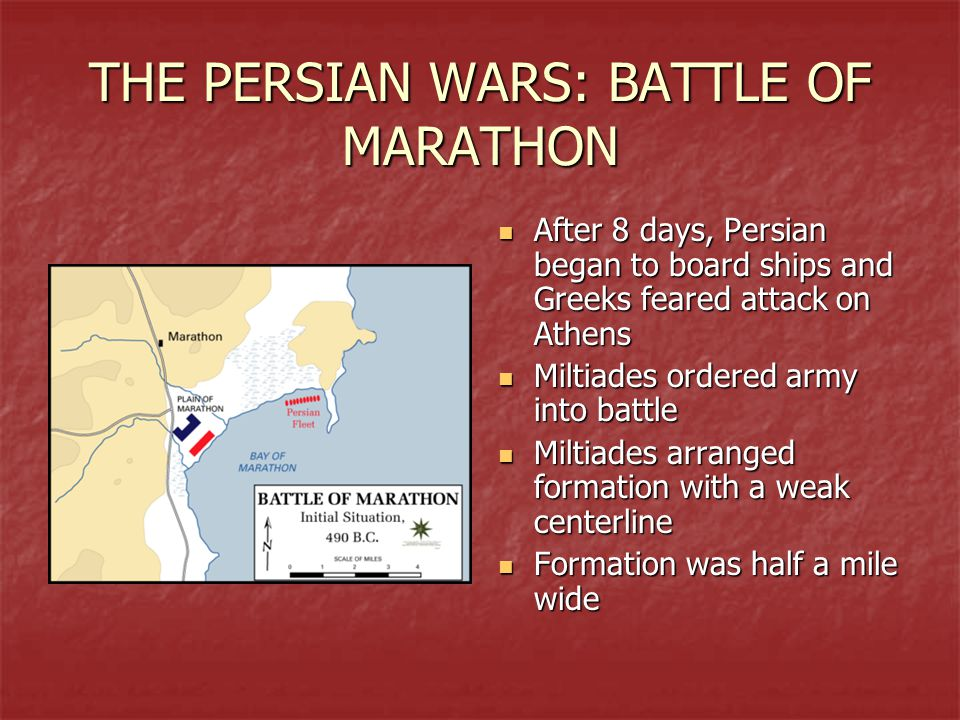 THE PERSIAN WARS: BATTLE OF MARATHON