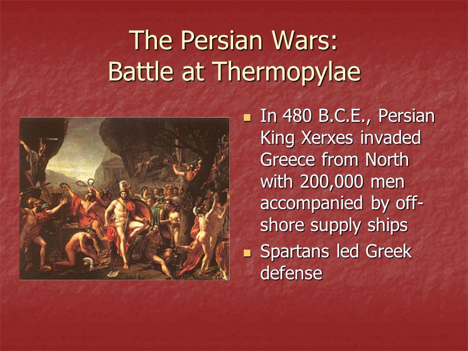 The Persian Wars: Battle at Thermopylae