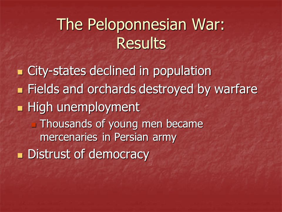 The Peloponnesian War: Results