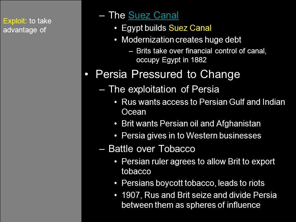 Persia Pressured to Change