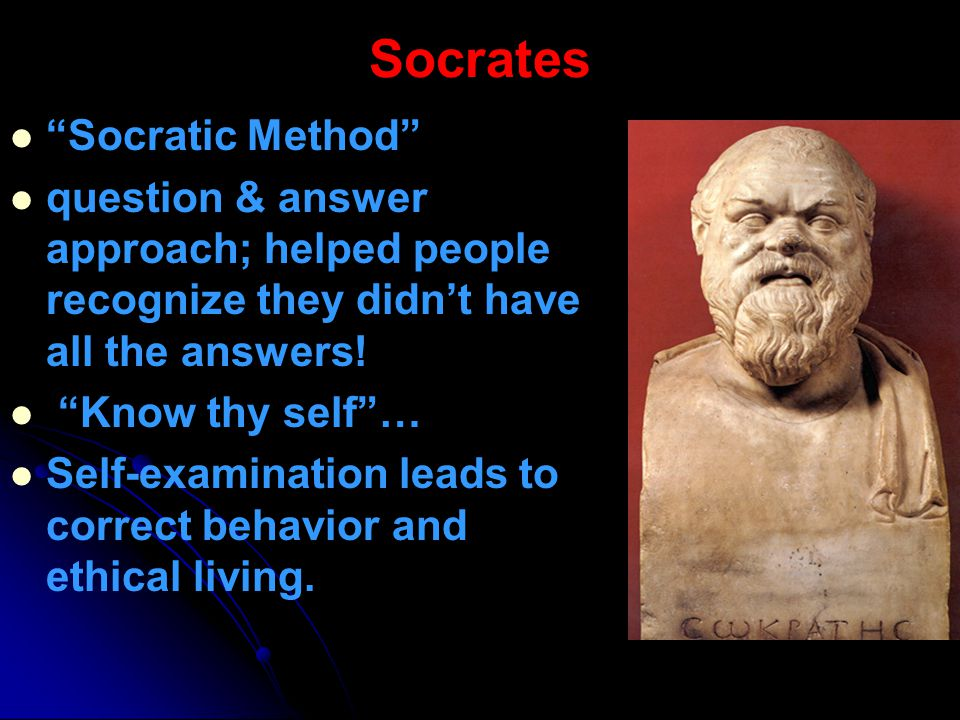 Socrates Socratic Method
