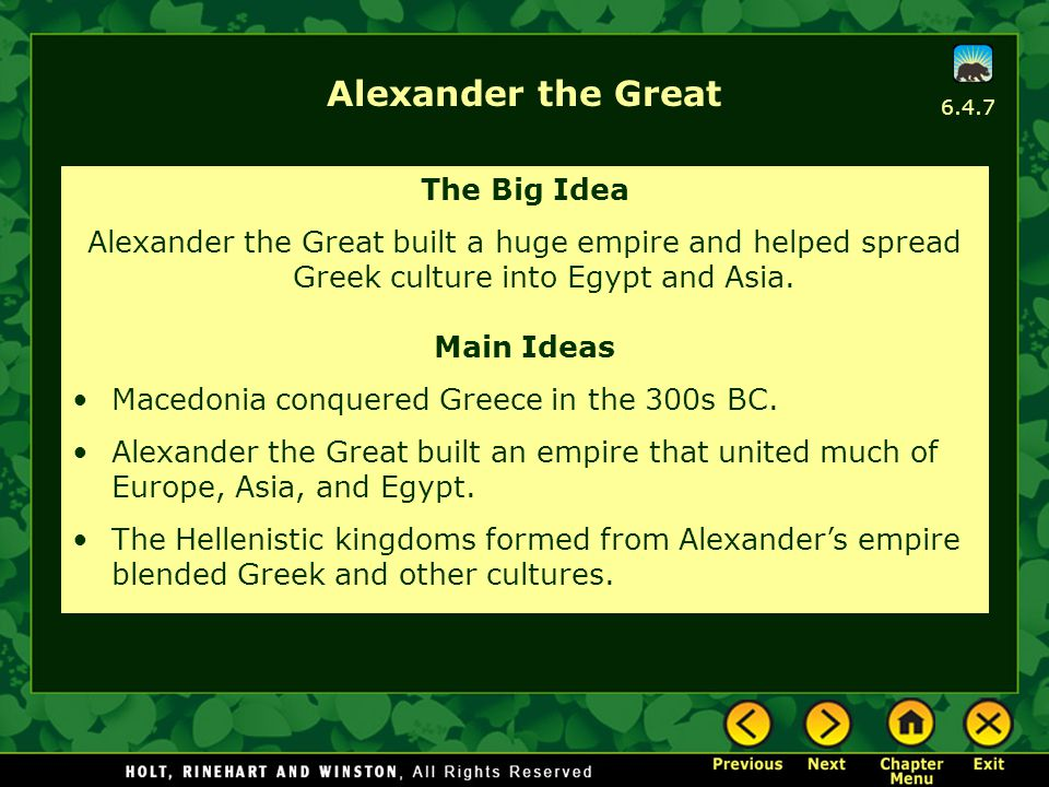 Alexander the Great The Big Idea