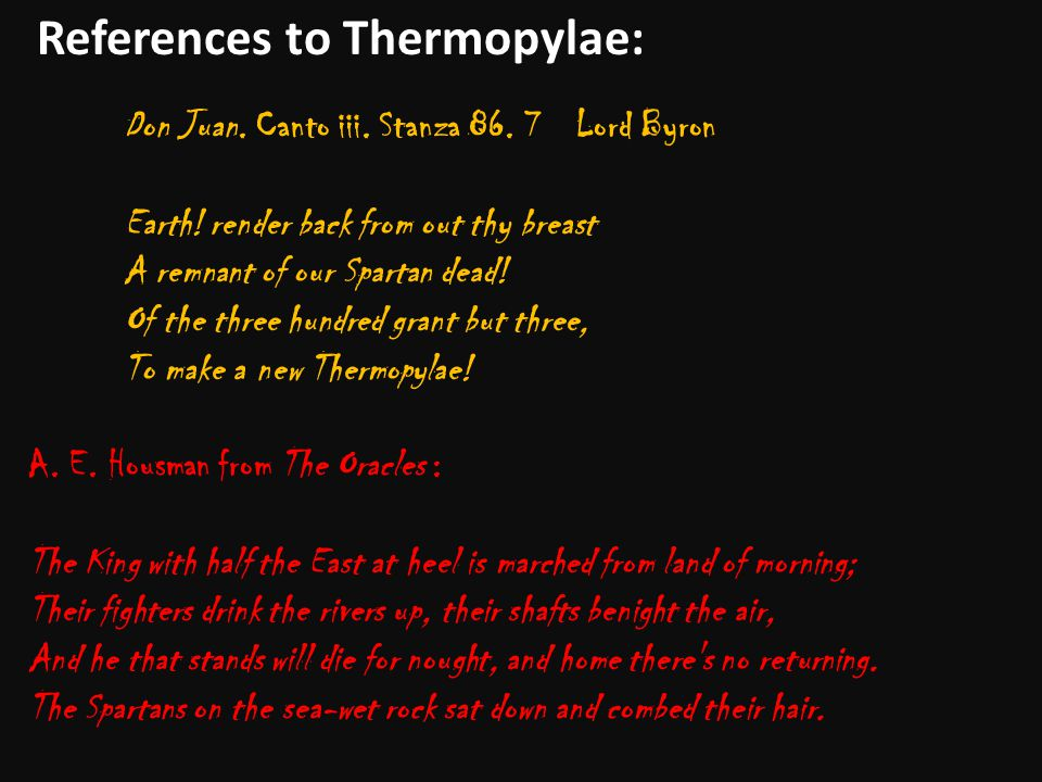 References to Thermopylae: