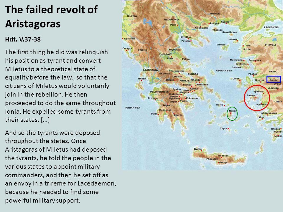 The failed revolt of Aristagoras
