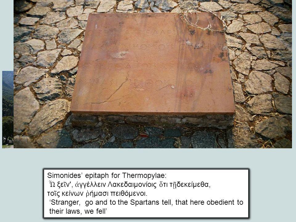 Simonides' epitaph for Thermopylae: