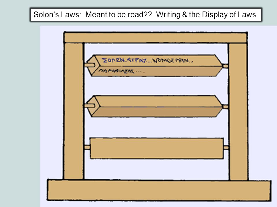 Solon's Laws: Meant to be read Writing & the Display of Laws