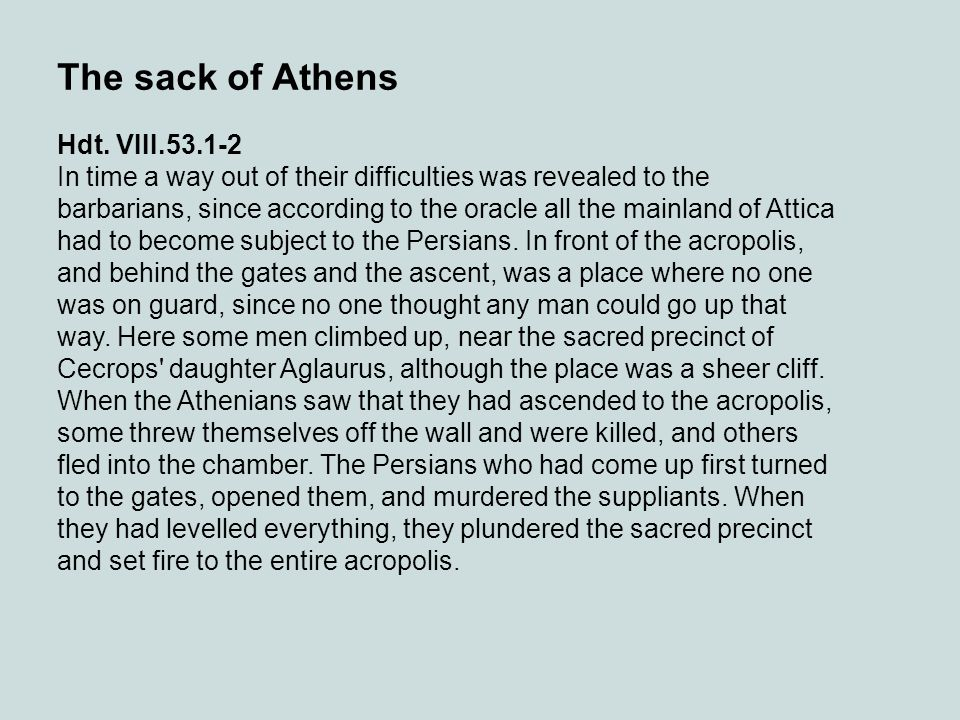 The sack of Athens Hdt. VIII.53.1-2