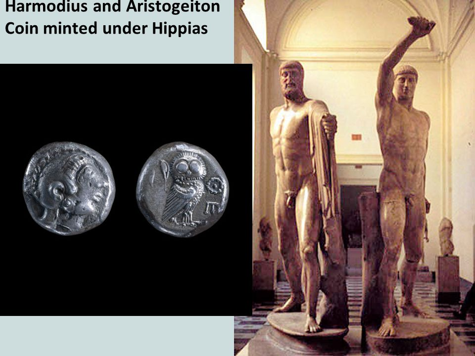 Harmodius and Aristogeiton Coin minted under Hippias