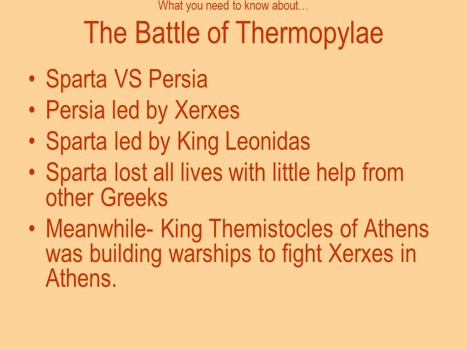 What you need to know about… The Battle of Thermopylae