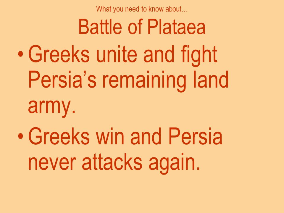 What you need to know about… Battle of Plataea