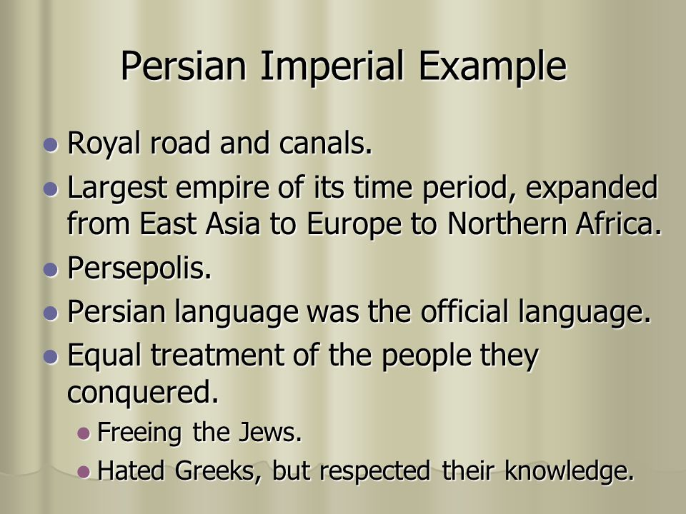 Persian Imperial Example