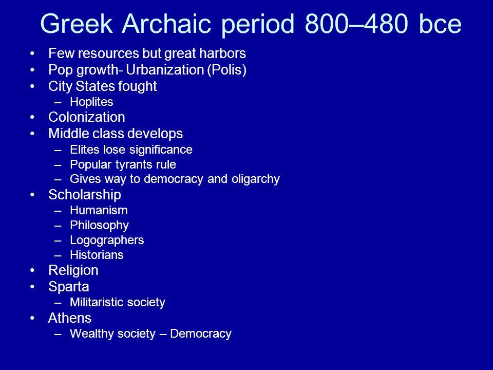 Greek Archaic period 800–480 bce