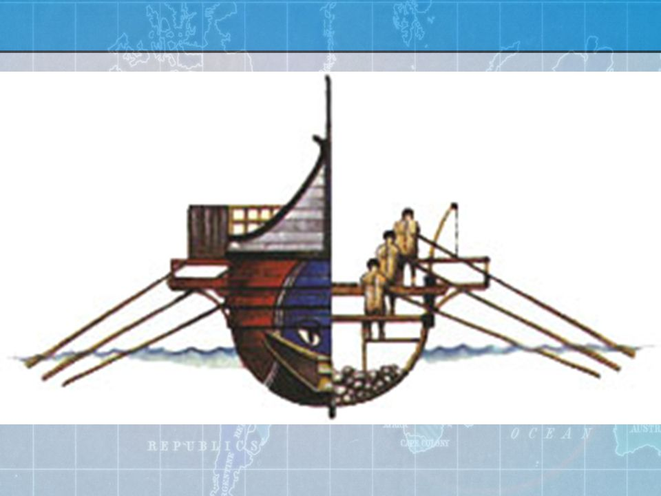 Trireme up to 7 knots all rowers required to be naked