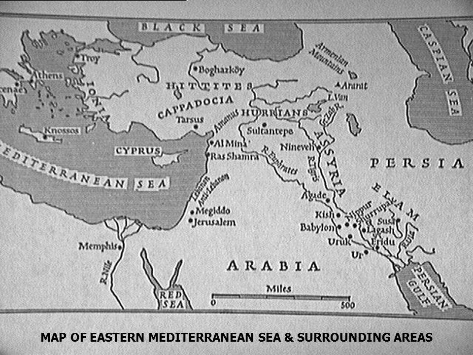 Map of Eastern Mediterranean