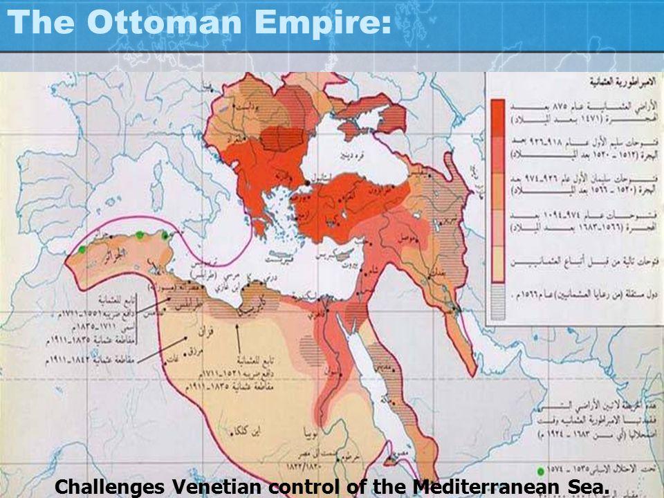 Challenges Venetian control of the Mediterranean Sea.
