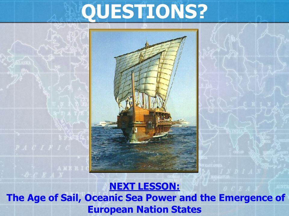 QUESTIONS NEXT LESSON: