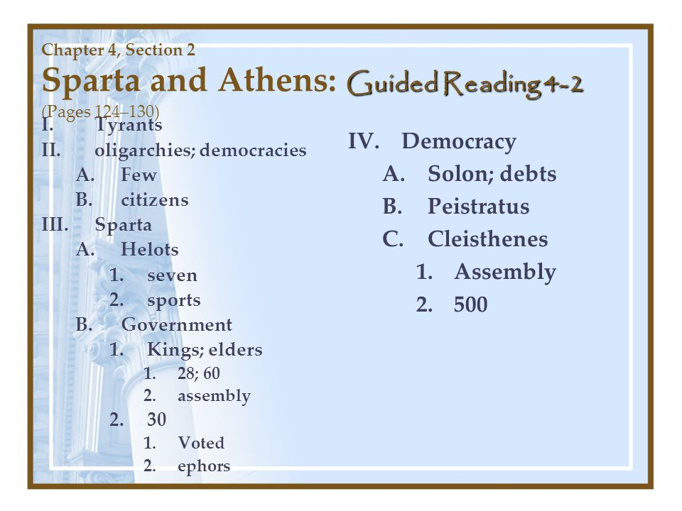 Democracy Solon; debts Peistratus Cleisthenes Assembly 500 Tyrants