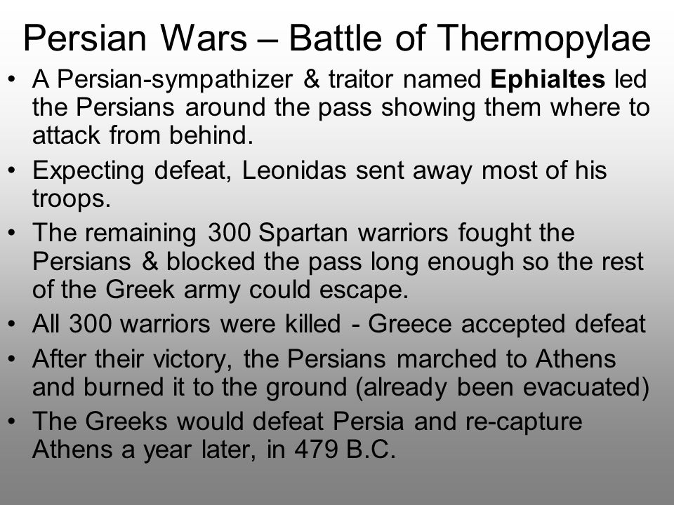 Persian Wars – Battle of Thermopylae