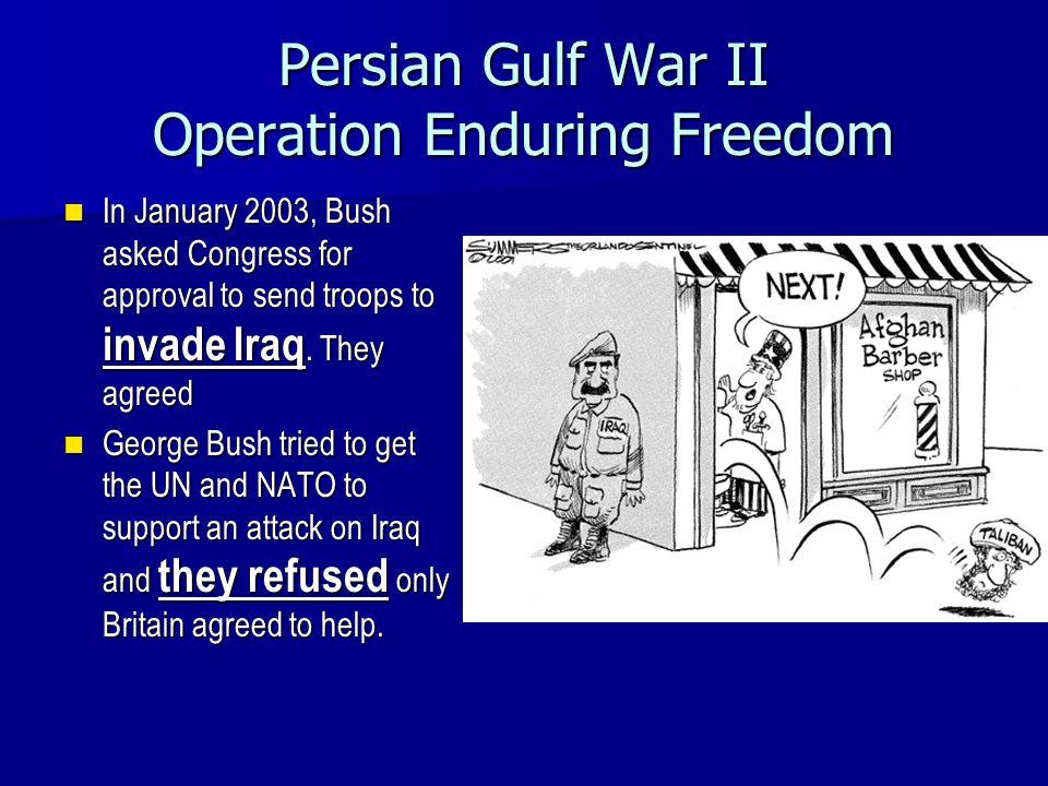 Persian Gulf War II Operation Enduring Freedom