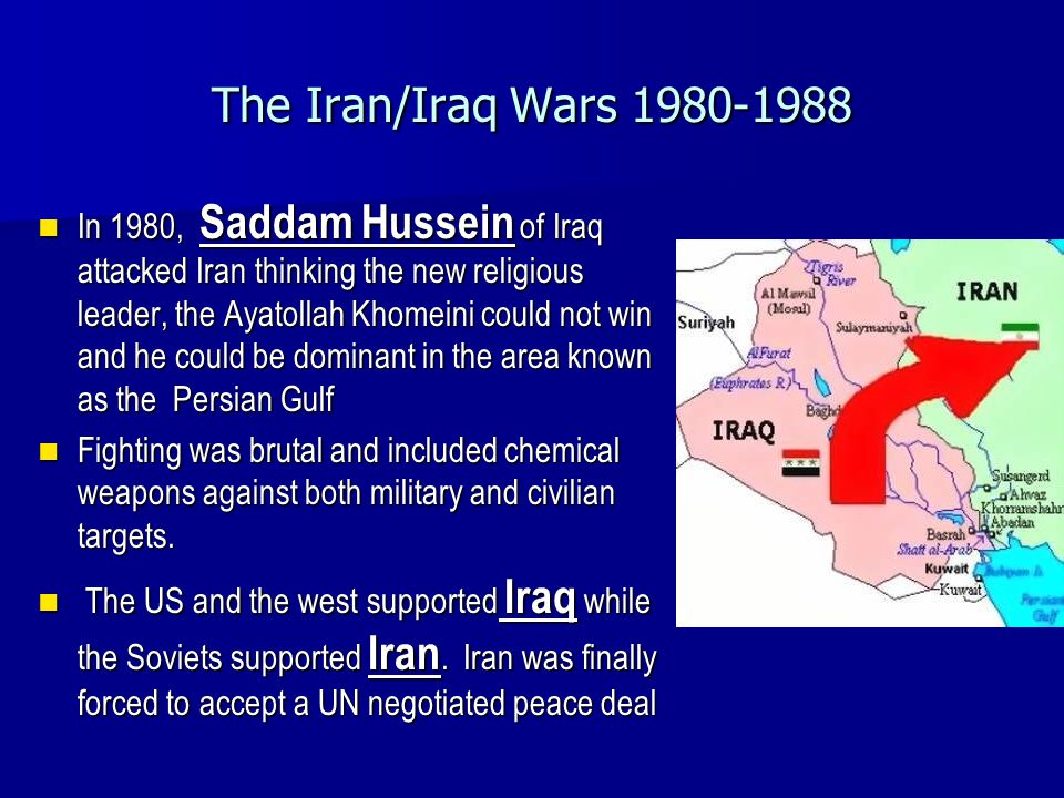 The Iran/Iraq Wars 1980-1988