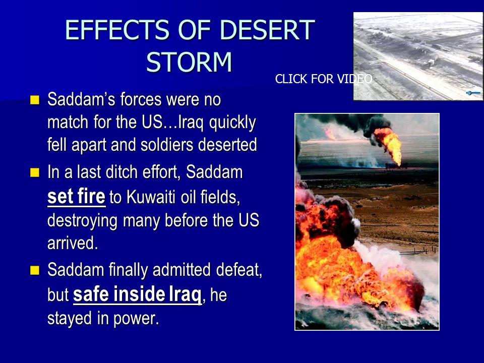 EFFECTS OF DESERT STORM