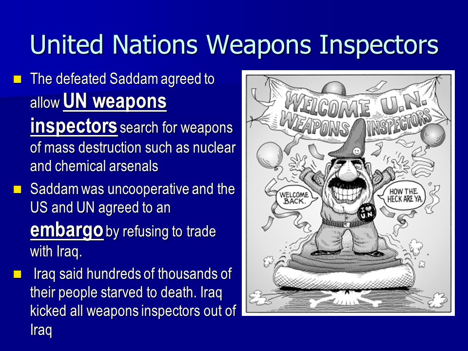 United Nations Weapons Inspectors