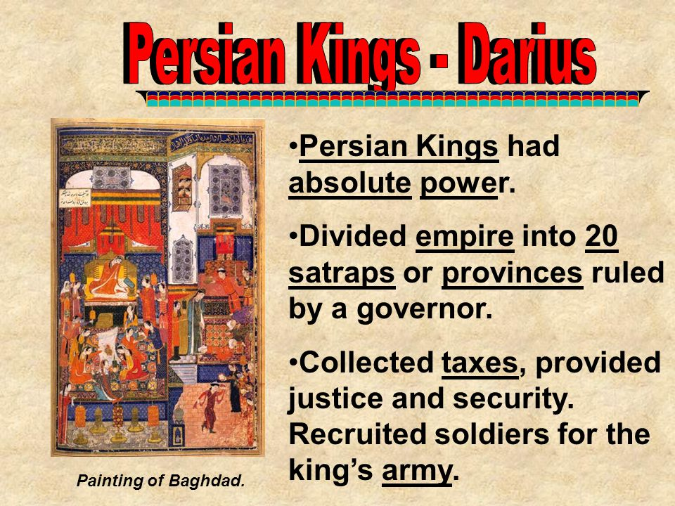 Persian Kings - Darius Persian Kings - Darius