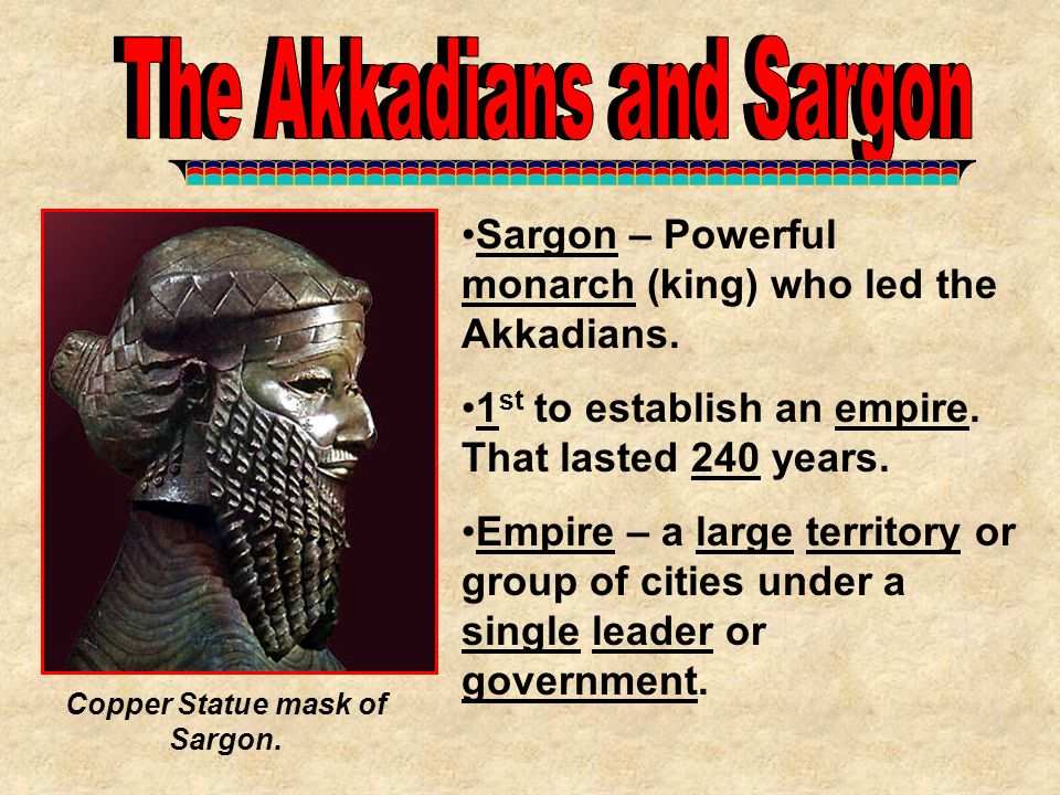 Copper Statue mask of Sargon.