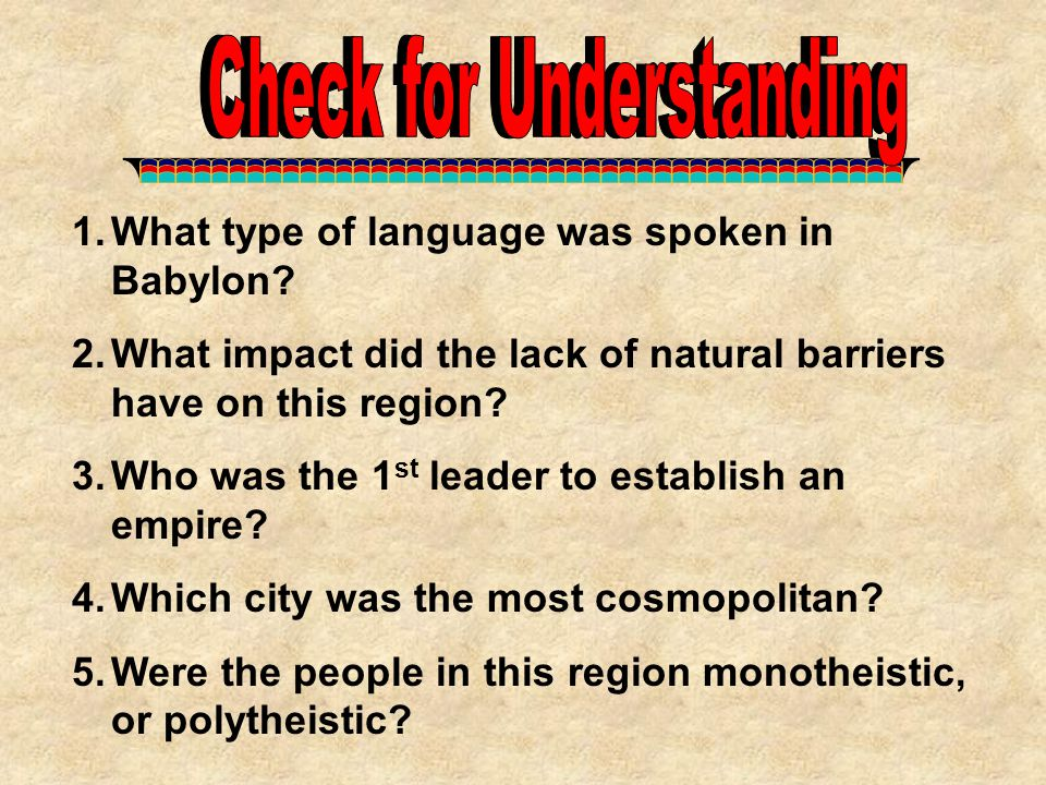 Check for Understanding Check for Understanding