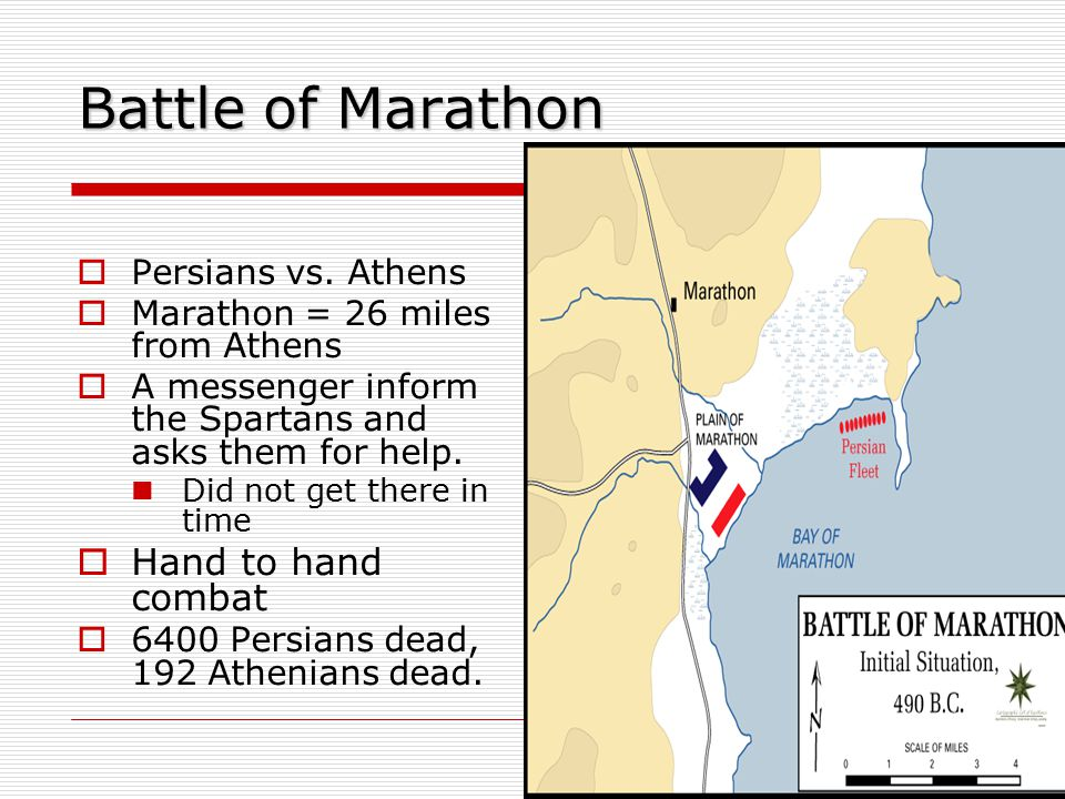 Battle of Marathon Hand to hand combat Persians vs. Athens