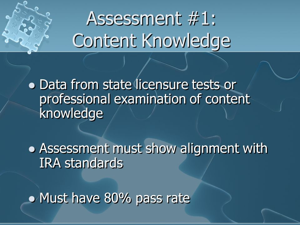 Assessment #1: Content Knowledge