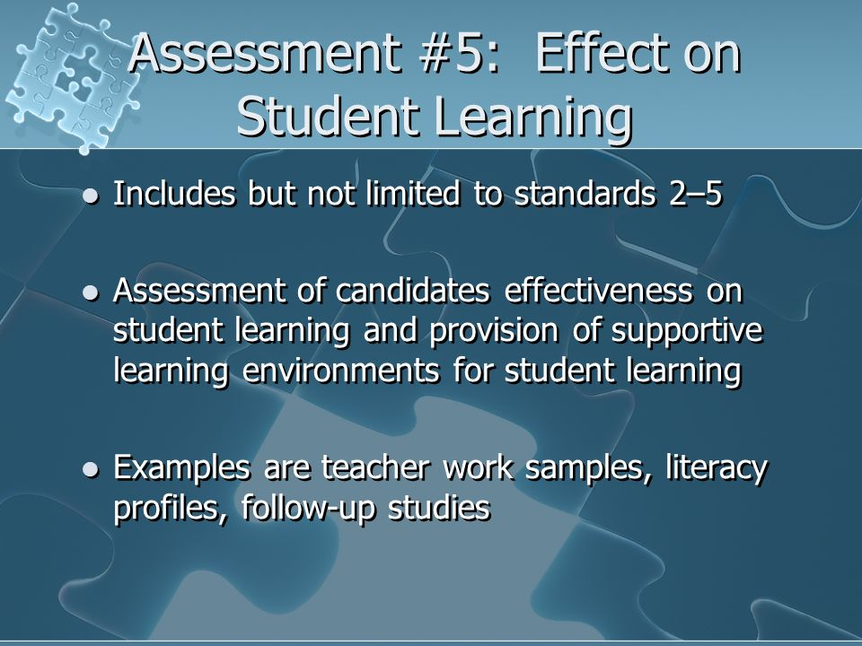 Assessment #5: Effect on Student Learning