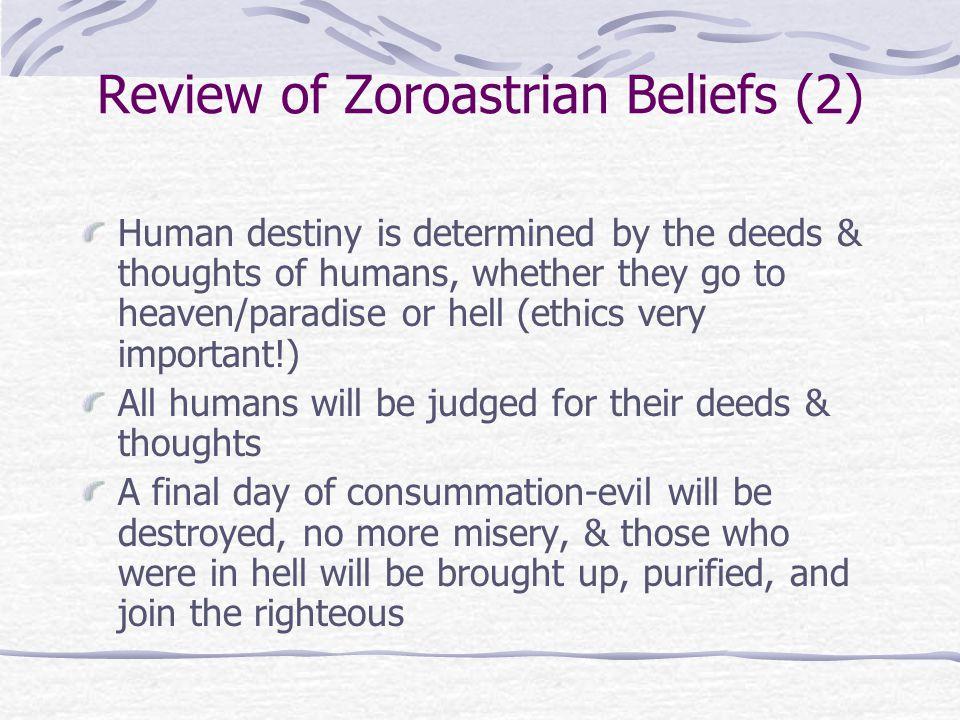 Review of Zoroastrian Beliefs (2)