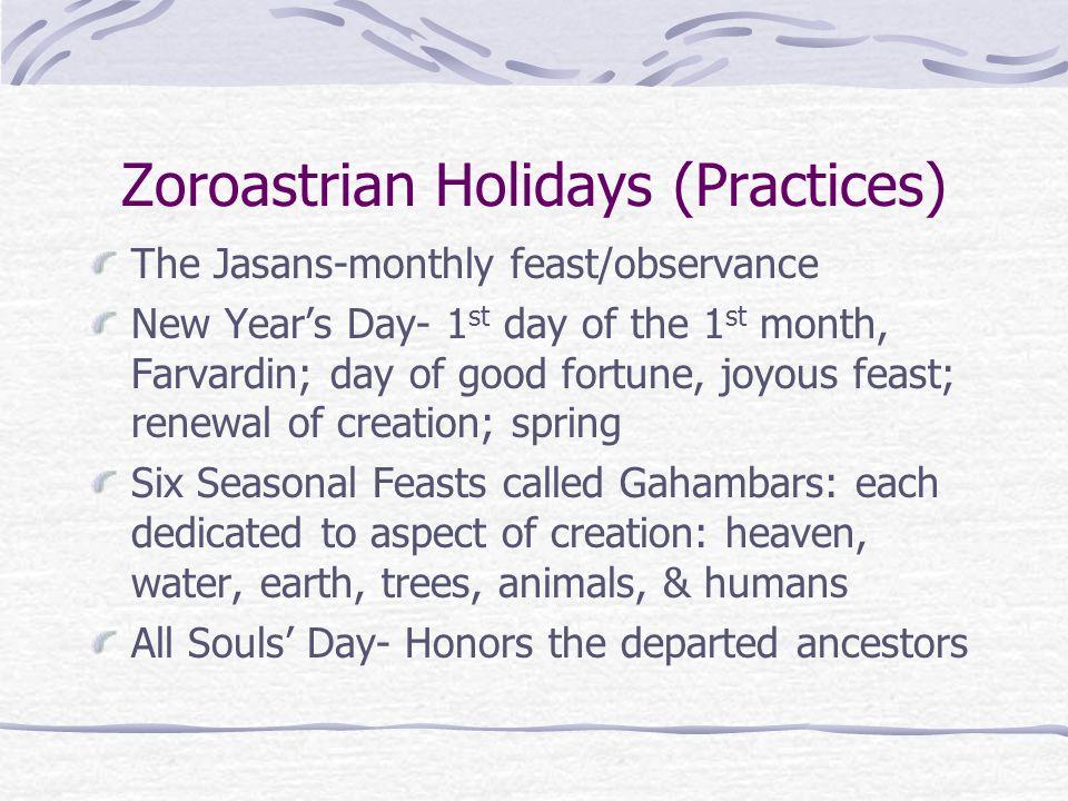 Zoroastrian Holidays (Practices)