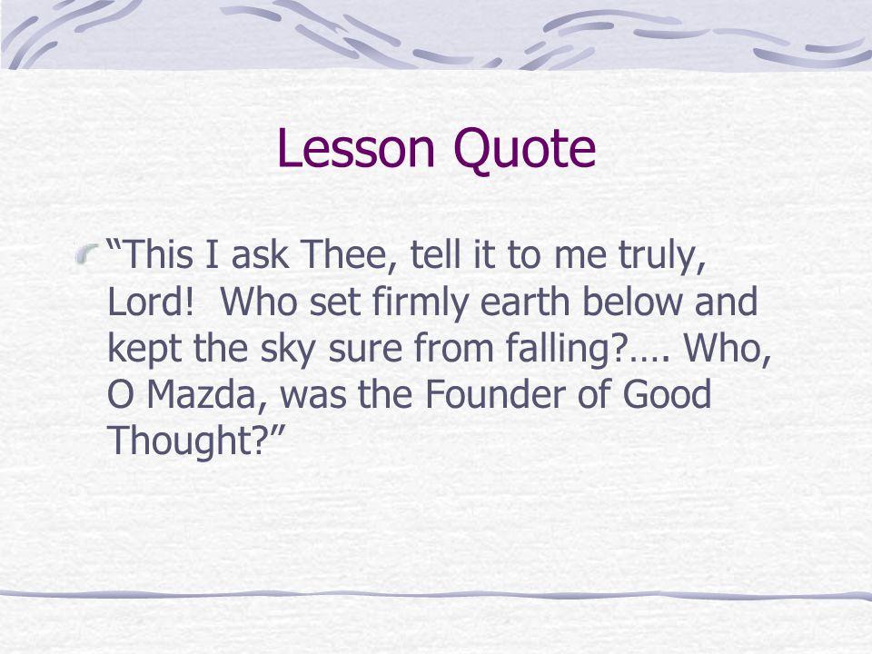 Lesson Quote