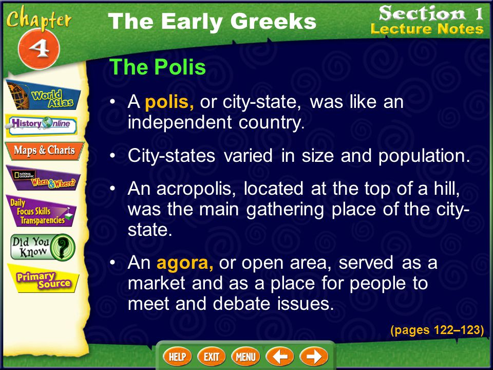 The Early Greeks The Polis
