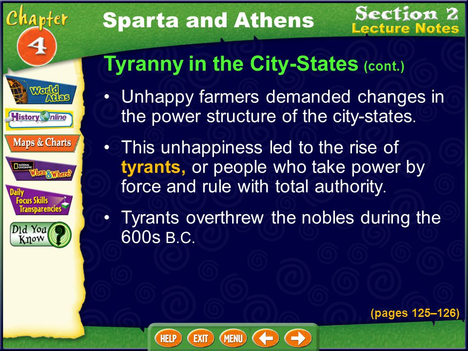 Tyranny in the City-States (cont.)