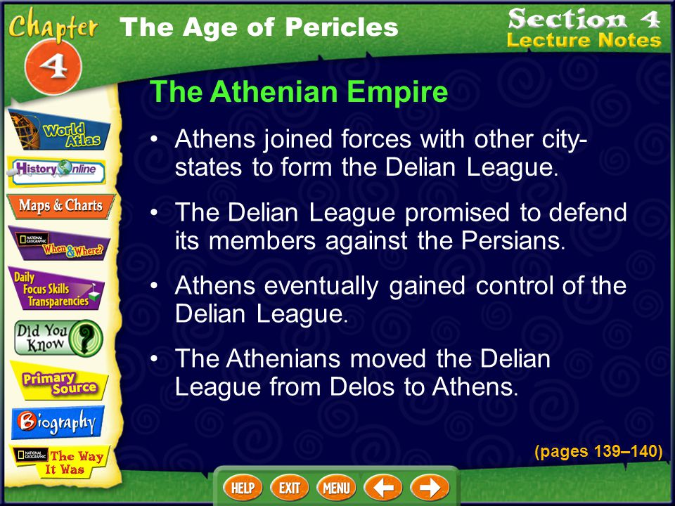 The Athenian Empire The Age of Pericles