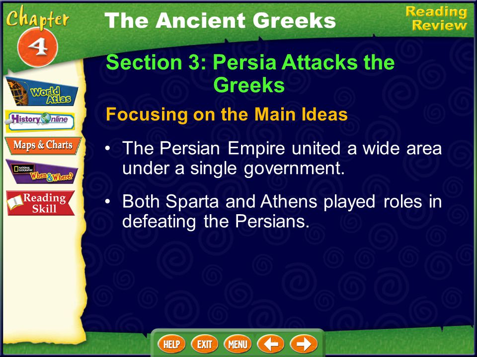 Section 3: Persia Attacks the Greeks