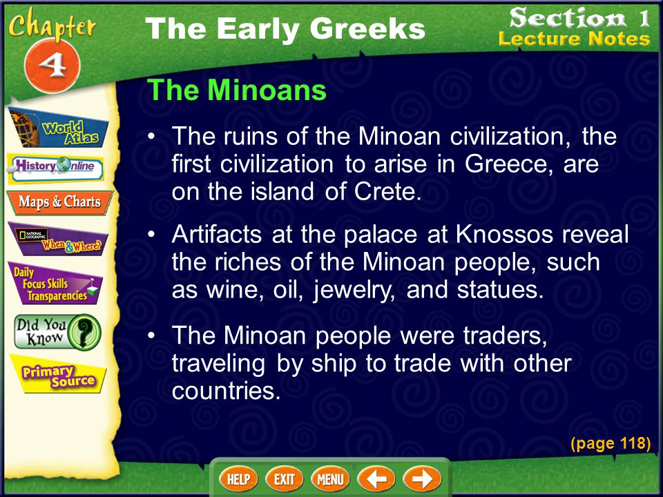 The Early Greeks The Minoans