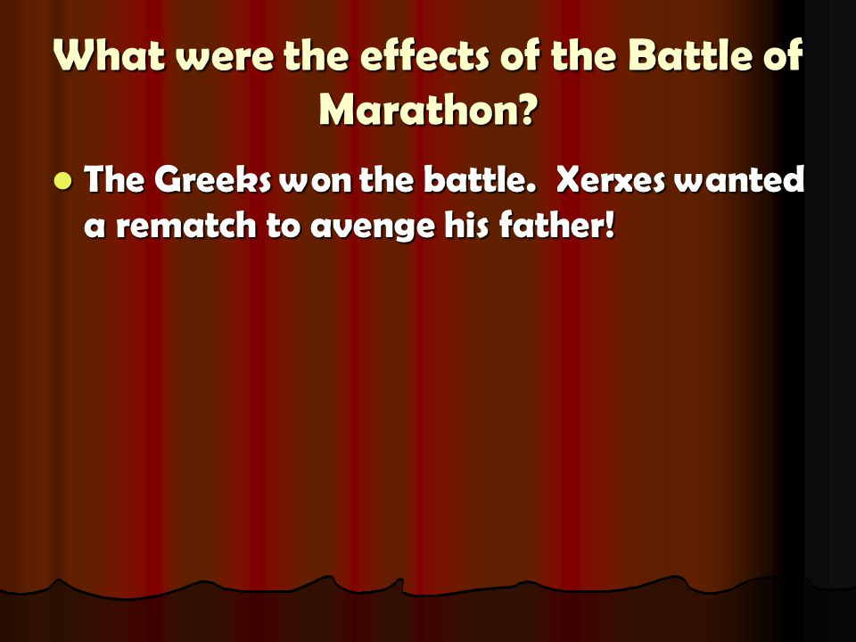 What were the effects of the Battle of Marathon