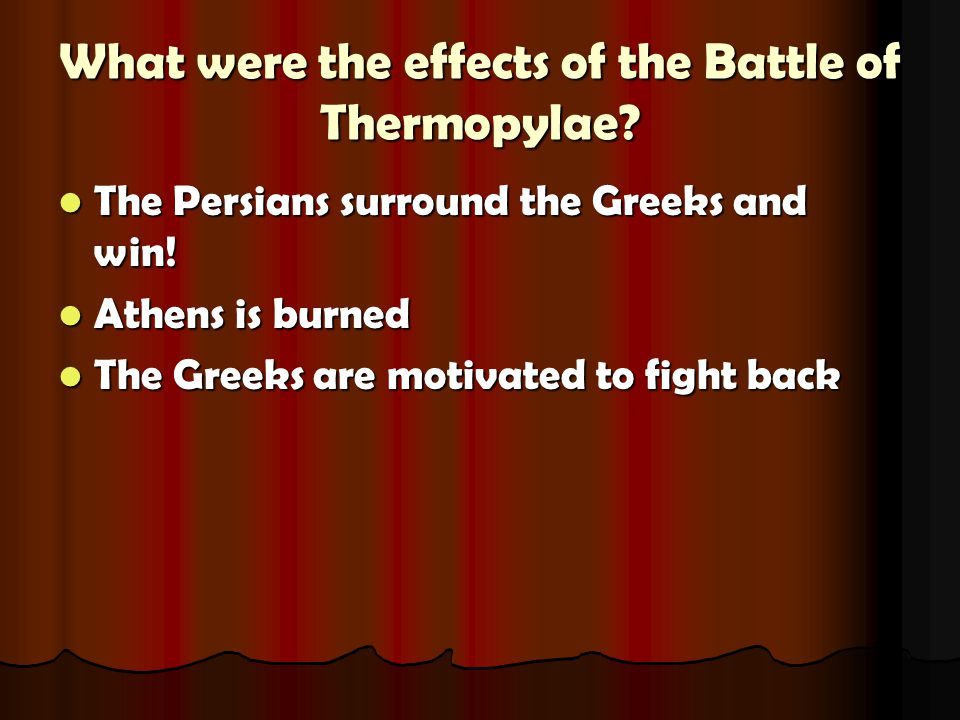 What were the effects of the Battle of Thermopylae