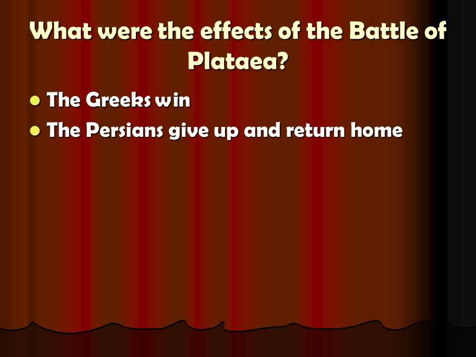 What were the effects of the Battle of Plataea