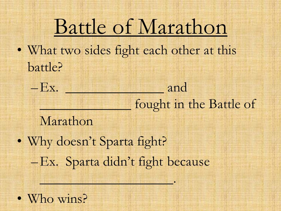 Battle of Marathon What two sides fight each other at this battle