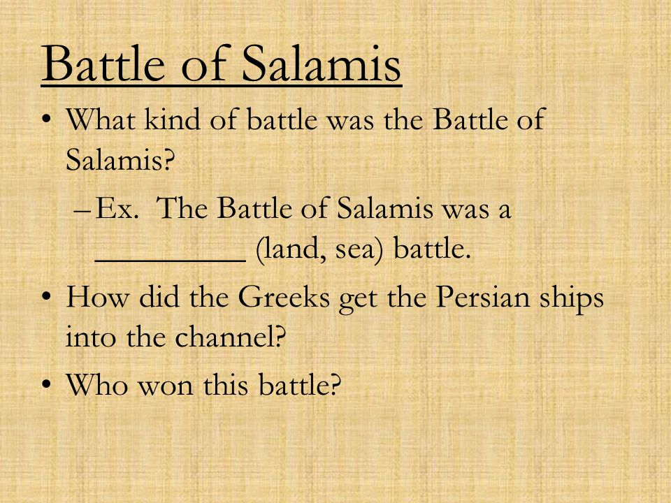 Battle of Salamis What kind of battle was the Battle of Salamis