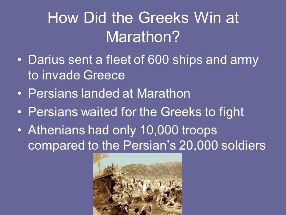 How Did the Greeks Win at Marathon