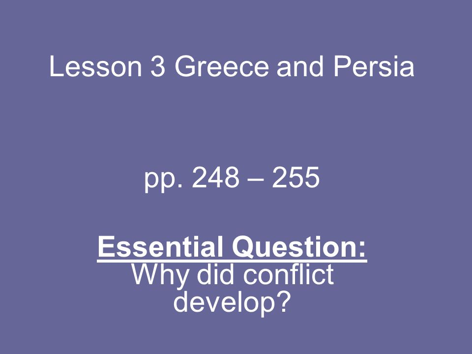 Lesson 3 Greece and Persia